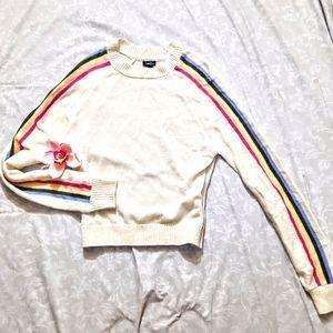 Rue21 rainbow stripe sweater small